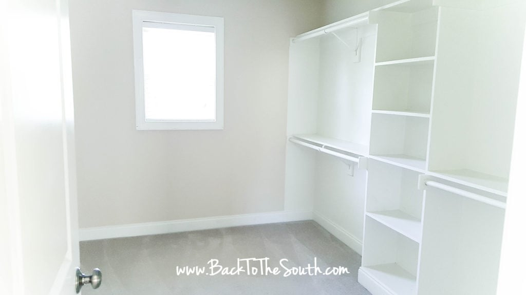 master bedroom closet layout