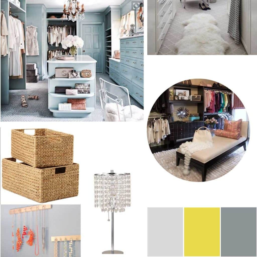 Moodboard for Bedroom Closet Makeover
