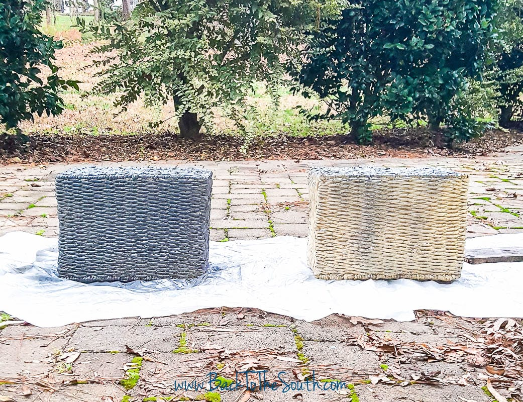 How To Spray Paint Baskets