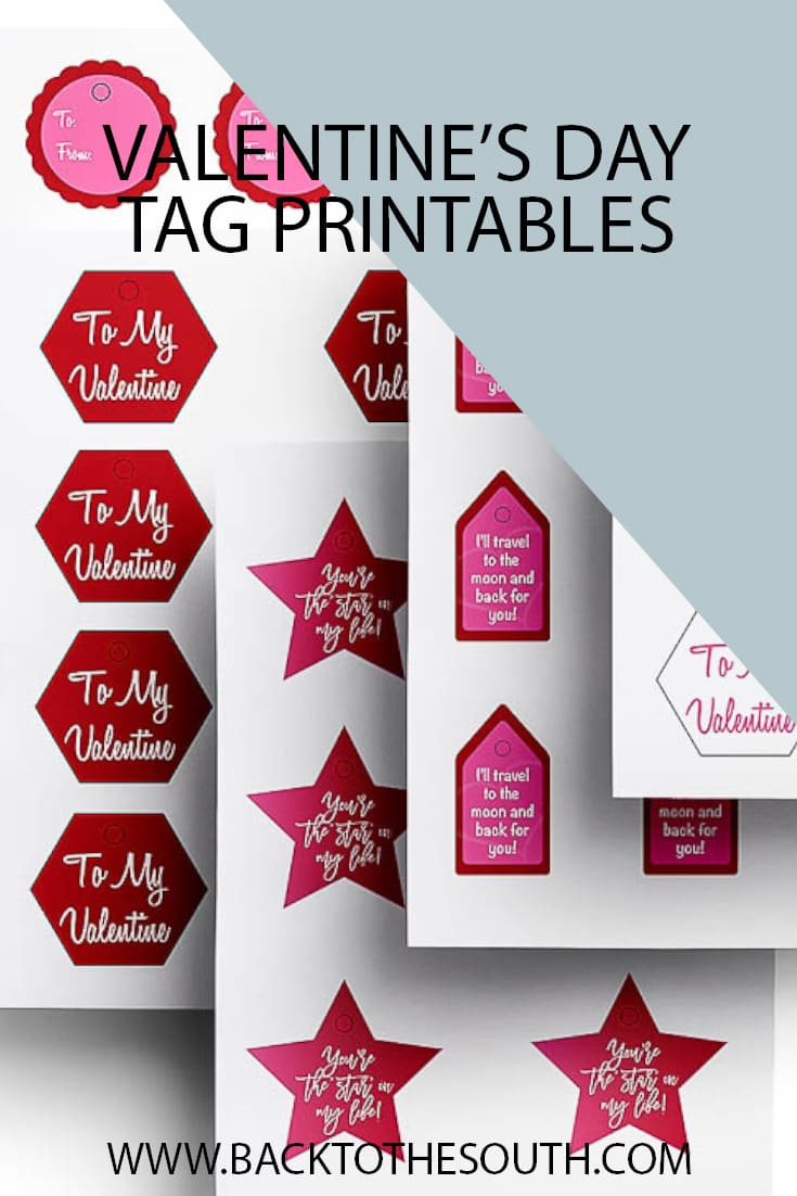 Valentines day gift tag printable