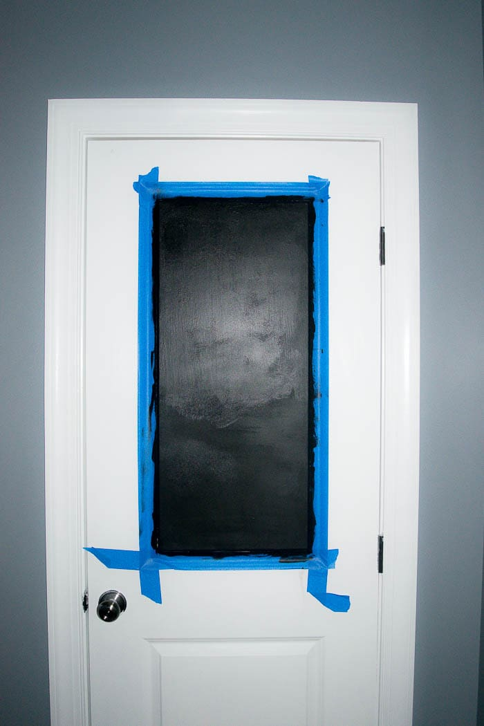 Full door painted and taped 2