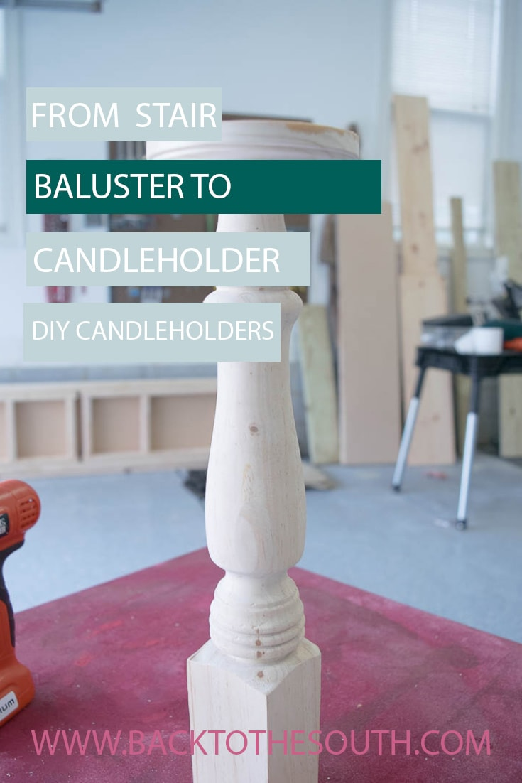 Stair baluster candle holder