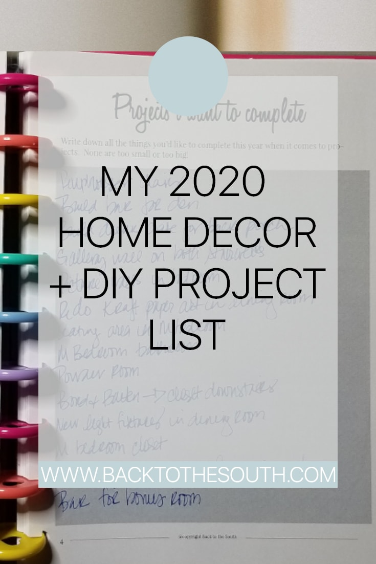 2020 Home decor projects