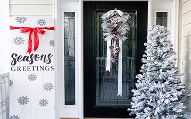 Christmas decor styling