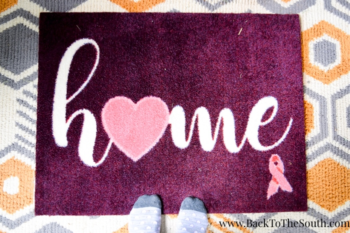 Pink Ribbon Welcome Mat